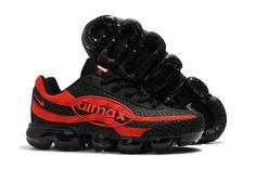 Mens Shoes Nike Air Vapormax 95 Kpu Black Red Mens Nike Air, Nike Air Vapormax, Nike Men, Winter Running Shoes, Kicks Shoes, Casual Trainers, Nike Air Zoom Pegasus, Thé Air Max, Air Jordan Shoes