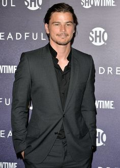 "Actor Josh Harnett wears Dior Homme to the May 6th premiere of his latest project, Showtime series ""Penny Dreadful"""