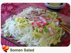 A light refreshing Somen Salad recipe. Get more Hawaiian and local style recipes here.