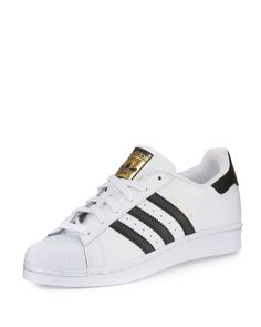 save off 4accd c5877 Adidas Mens Superstar Classic Leather Sneakers, WhiteBlack