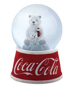 Look at this Coca-Cola Polar Bear Snow Globe on #zulily today!