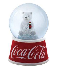 Look at this Coca-Cola Polar Bear Snow Globe on #zulily today!