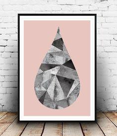 Scandinavian print, minimalist art, watercolor print, geometric art, modern…