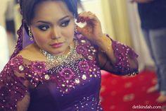 My makeup and dress for 19.2.12 reception (Malaysian Wedding)