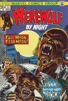 comicbookcovers:  Werewolf By Night #11, November 1973, cover by Gil Kane and John Romita