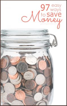 Find out how you can cut your budget right now with this huge list of 97 Simple Ways to Save Money, including money saving tips on everything from saving money on groceries to health care, kids stuff, utilities, transportation, gifts, entertainment, and more! The list includes how tos and estimates of how much you'll save for many of the tips. Even when you just apply 2 or 3 of these ideas, they can really add up to make a big difference in your household budget.