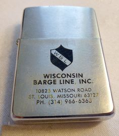 WISCONSIN BARGE LINE INC. Full size Zippo, 1980