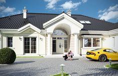 Projekat luksuzne prizemne kuće s garažom Village House Design, Village Houses, One Storey House, Classic House Design, My House Plans, Home Fashion, Future House, Luxury Homes, Mansions