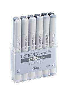 COPIC sketch set of 12 (Cool Grey)