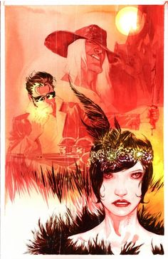 American Vampire cover (11 x 17 watercolor) by Dustin Nguyen