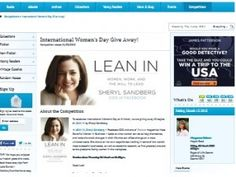 Win A Copies Of LEAN IN By Sheryl Sandberg
