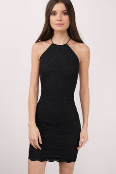 Keep it short and sweet in the Oh So Sweet Bodycon Dress. This bodycon mini dress has a gorgeous lace overlay and an open back with a zipper closure a