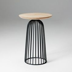 Wire basket by WON is like a silhouette against the horizon, the shapes mimic the giant baobab trees on the african savanna. Nordic Furniture, Table Furniture, Furniture Design, Wire Table, Retro Sofa, New Energy, Wire Baskets, Small Tables, Furniture Collection