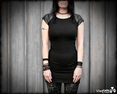 MONO  Black Modern Urban Industrial Dystopia Mini by siskatank