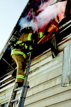 Firefighter in action. | Shared by LION