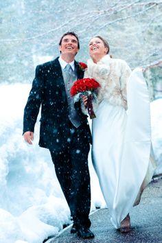 Squaw Valley Lake Tahoe wedding #winterwedding