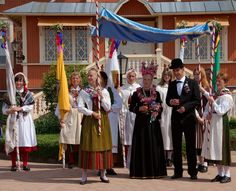 Traditional wedding in Åland, Finland. Äland is the biggest island of group of islands between Finland and Sweden. Marianhamina is the 'capital' of Åland islands.