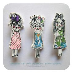 Shrink Art Dolls / Can be printed with a printer. Tutorial on the page.