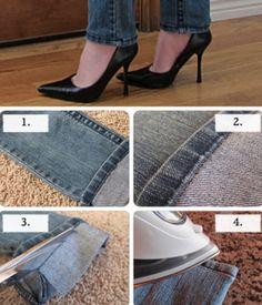DIY cut your jeans