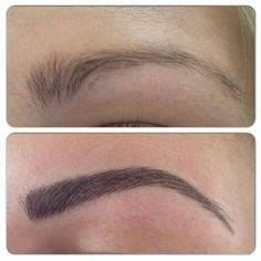 Semi-permanent Make-Up hair stroke brows.