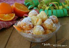 CASTAGNOLE ALLA PANNA MONTATA e aranci,una ricetta di Carnevale velocissima, che si prepara in 5 minuti,soffici, castagnole facili,soffici e profumate