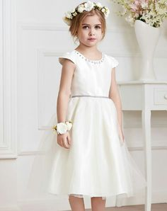 White Beaded Princess Bubble Dress I found this beautiful item on VIPme.com. Check it out!