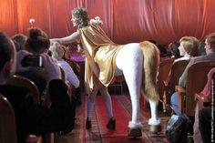 Sobchak's centaur's costume (cool idea for Halloween!)