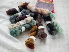Phat Fiber Sample Box: Storied Yarns sock yarn minis giveaway!