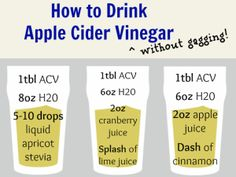 In recent years, many people have started to discuss the use of apple cider vinegar for weight loss. Apple cider vinegar is known to have many health benefits when consumed daily. There are a few different reasons to use it to benefit your health, but. Detox Drinks, Healthy Drinks, Get Healthy, Healthy Tips, Acv Drinks, Healthy Meals, Healthy Recipes, Healthy Food, Drink Recipes