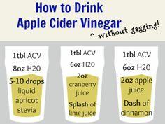 Drink Apple Cider Vinegar without gagging!