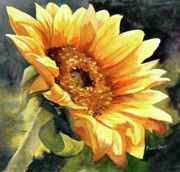 Sunflowers Paintings - Looking to the Sun by Bonnie Rinier
