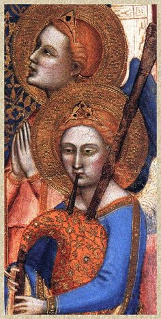 Detail from the Coronation of the Virgin with Adoring Saints (1370-1371) -- Attributed to Jacopo Di Cione