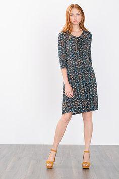 Esprit / Fließendes Jersey-Strech-Kleid