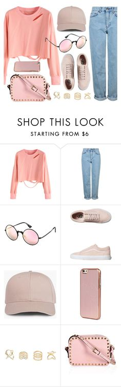 """""""A Day In Pink"""" by smartbuyglasses ❤ liked on Polyvore featuring Topshop, Le Specs, Vans, Kenzo, Charlotte Russe, casual and Pink"""