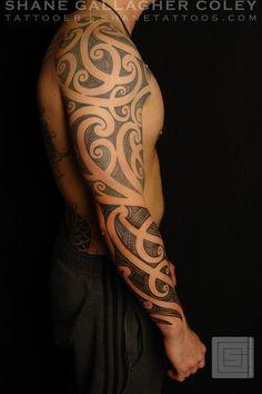 Maori tattoo by Shane Gallagher Maori Tattoos, Celtic Sleeve Tattoos, Polynesian Tribal Tattoos, Filipino Tattoos, Maori Tattoo Designs, Tribal Sleeve Tattoos, Samoan Tattoo, Viking Tattoos, Body Art Tattoos