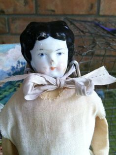Charlotte doll old porcelain doll vintage by deepsouthtreasures, $23.00