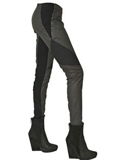 GARETH PUGH  WAXED COTTON AND LYCRA TROUSERS - http://lustfab.com/shop-lust/gareth-pugh-waxed-cotton-lycra-trousers/