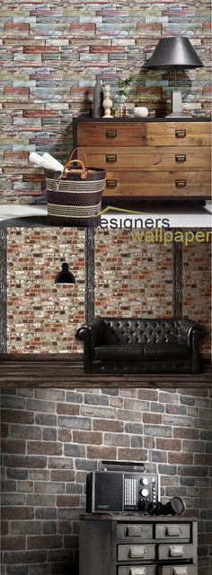 25 Accent Wall Ideas You'll Surely Wish to Try This at Home! Maybe, if you're looking for modern accent wall ideas, you can visit this website. Brick Wallpaper Accent Wall, Plain Wallpaper, Stone Wallpaper, Damask Wallpaper, Modern Wallpaper, Textured Wallpaper, Accent Wall Designs, Accent Wall Colors, Animal Print Wallpaper