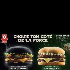 The 'Dark Vador' (haha frenchies) Burger is available until March 1st in France.