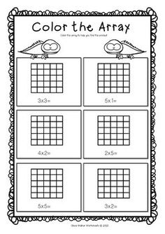 2 Repeated Addition Array Worksheets Arrays Worksheets Grade Two Math Standard First Array Worksheets, Printable Math Worksheets, School Worksheets, Number Worksheets, Alphabet Worksheets, Teaching Multiplication, Teaching Math, Teaching Geography, Maths
