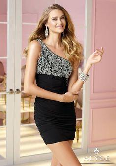 Alyce Short One Strap Prom Dress 4361