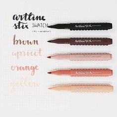 Cute Stationary, Stationary Supplies, Bullet Journal Notes, Cute School Supplies, Cute Notes, Calligraphy Pens, Too Cool For School, Study Notes, Brush Lettering