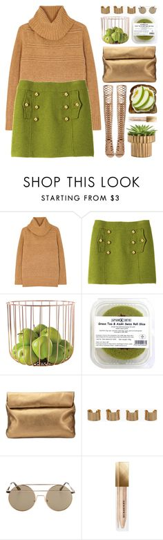 """An Apple a Day"" by fee4fashion on Polyvore featuring Diane Von Furstenberg, Milly, Dot & Bo, Jigsaw, Maison Margiela, Burberry and Vince Camuto"