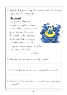 Resultado de imagen de comprensió lectora per cicle inicial Catalan Language, Music Classroom, Conte, Valencia, Literacy, Worksheets, Teacher, Activities, Writing