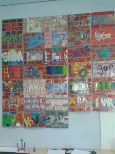 Knutsel groep 8 grafiti muur Art For Kids, Crafts For Kids, Arts And Crafts, Middle School Art, Art School, School Projects, Art Projects, Street Art, 5th Grade Art