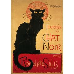 'Chat Noir'  - This iconic poster by Swiss artist #Steinlen has become a staple in the #art #nouveau movement