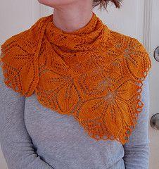 Gorgeous orange Haruni shawl.