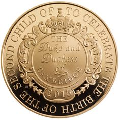 The commemorative £5 coin to celebrate the royal birth