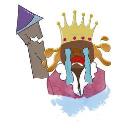 """Ilustración """"El rey de chocolate"""""""