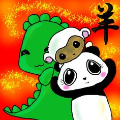 Every Thursday I upload a new Digital Doodle of Dino & Panda on my Facebook Fanpage! Search Dino & Panda Inc and check it out :D Artwork dedicated to making you smile ;)